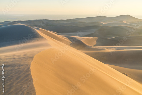 Staande foto Cappuccino Great sand dune national park at sunset,Colorado,usa.