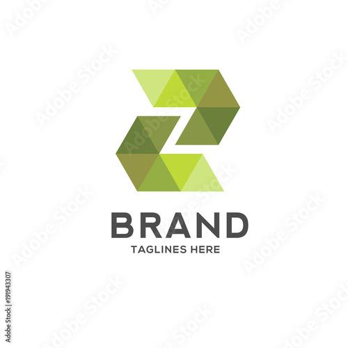 Letter Z Colorful Geometric Logo Logo Initial Letter Z Business