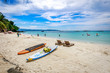 Diniwid beach view, white-sand beach in Boracay Island in the Philippine