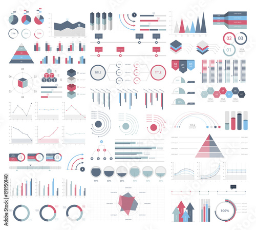 Photo  Set elements of infographic