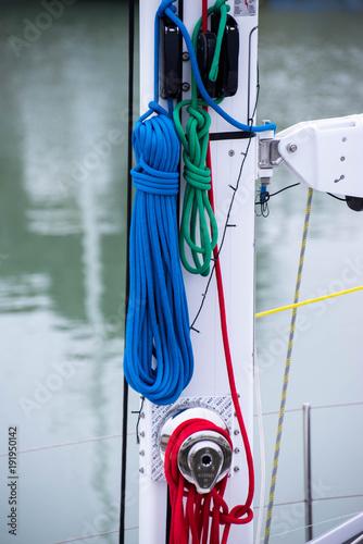 Fotografiet  Cordage voilier Charente Maritime France