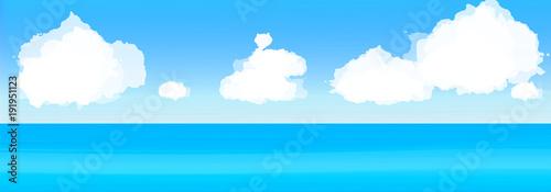 Keuken foto achterwand Turkoois 海と雲
