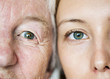 Leinwanddruck Bild - Family generation green eyes genetics concept