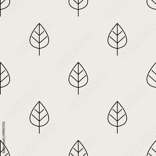 seamless-pattern-background-abstract-and-classical-concept-geometric-creative-design-stylish-theme-illustration-vector-black-and-white-color-leaf-shape-for-nature-and-environment-day