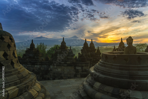 Foto op Plexiglas Indonesië Borobudur at Sunrise