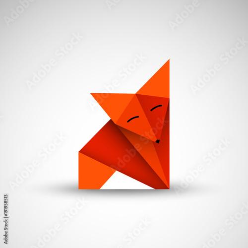 lis origami wektor Wall mural