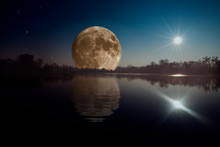 A Huge Full Moon Rising