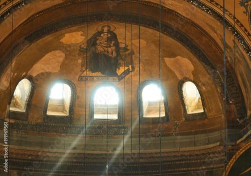The interior of Hagia Sophia, Istanbul, Turkey. Poster