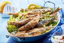 Crispy Batter Fried Sardines, ...