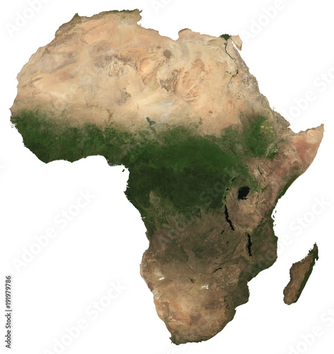 Fotografie, Tablou  Large (97 MP) isolated satellite image of Africa