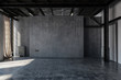 Leinwandbild Motiv Empty concrete warehouse room with windows
