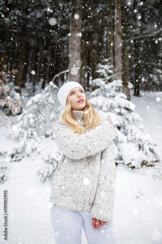 82e97943d Beautiful blond hair girl i winter clothes. Beautiful winter ...
