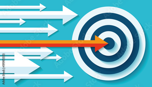 Volume Target icon in flat style on color background Wallpaper Mural
