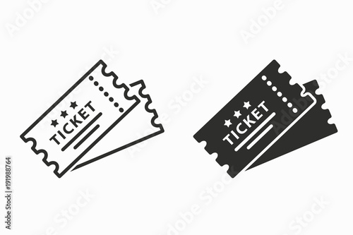 Fotomural Ticket vector icon.