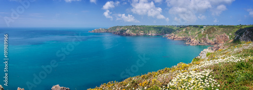Poster Cote Icart point panorama, Guernsey