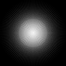 Background In The Form Of White Balls On A Black Background