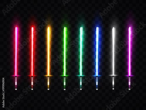 Photo Neon light swords set