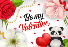 Be My Valentine Lettering With...