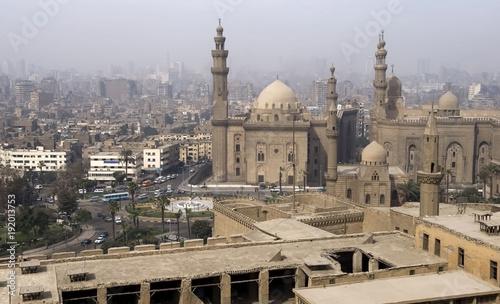 Staande foto Afrika Sultan Hassan Moschee und Rifa Moschee, Kairo