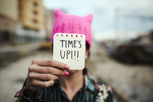 Woman With A Pink Hat And The ...
