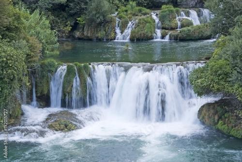 Recess Fitting Waterfalls Krka river, Croatia