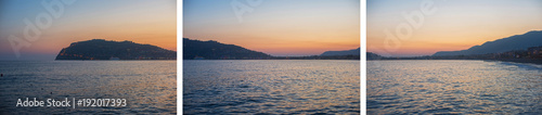 Alanya city, view from the beach, one of the famous destinations in Turkey Wallpaper Mural