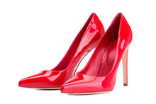 Women's Shoes In Red Patent Le...