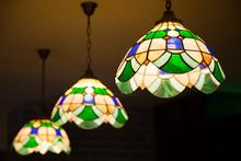 Multi Color Glass Lamp . Inter...