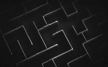 Maze In Black And White