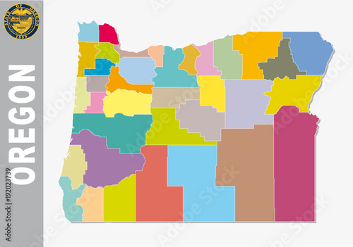 colored administrative and political vector map of us federal state ...