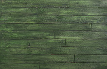Green Wooden Background For St...