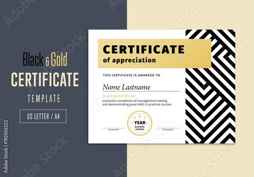 Elegant black and gold abstract award certificate layout buy this elegant black and gold abstract award certificate layout yelopaper Choice Image