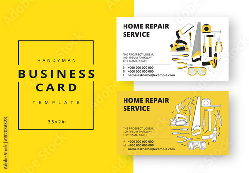 Carpenter business card layout in two colors buy this stock carpenter business card layout in two colors accmission