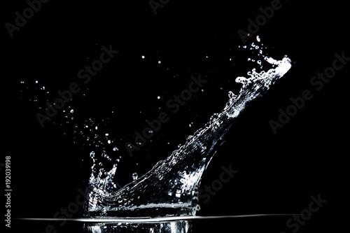 Stampa su Tela water splash on black