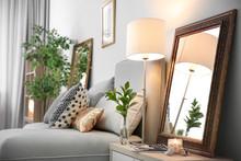 Elegant Room Interior With Mir...