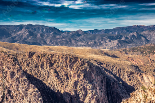 Foto op Canvas Zalm Desert Mountain Canyon