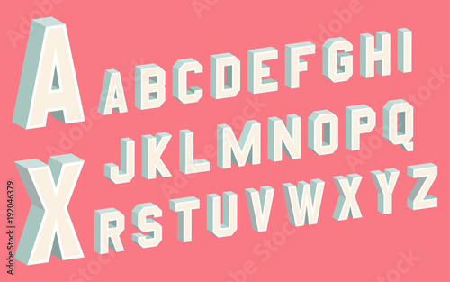 3D Block Letters Poster Mural XXL
