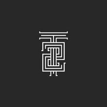 Hipster Initials T2 Logo, Comb...
