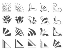 Set Of 20 Hand Drawn Corners A...