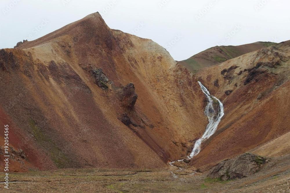 Fototapety, obrazy: Islandia - Tęczowe Góry Landmannalaugar w interiorze