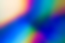 Spectrum Abstract Vaporwave Holographic Background, Trendy Colorful Backdrop In Pastel Neon Color. For Your Creative Design Cover, CD, Poster, Book, Printing, Gift Card, Fashion Web & Print