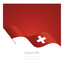 Switzerland Abstract Wave Flag...
