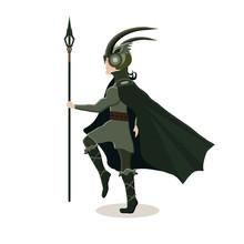 Viking Cartoon Character. Scan...