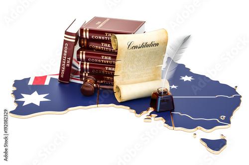 Constitution of Australia concept, 3D rendering Fototapeta