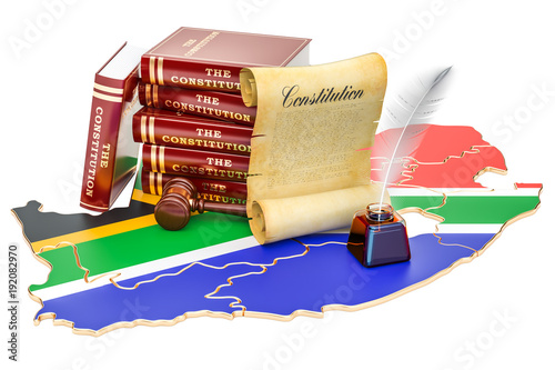 Fotografia Constitution of South Africa concept, 3D rendering