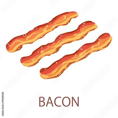 Photo Bacon icon, isometric style