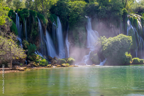 The picturesque Kravice falls in the National Park of Bosnia and Herzegovina Poster