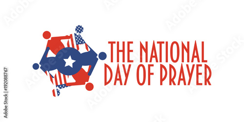 Fotografía  Vector banner for The National Day of Prayer, an annual day of observance designated by the United States Congress