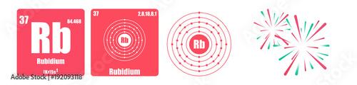 Photo Periodic Table of element group I the alkali metals Rubidium Rb