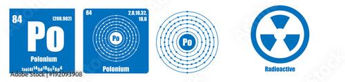 Fotografie, Tablou  Periodic Table of element group VI Polonium